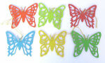 Schmetterlinge Satz mit 6 Stück