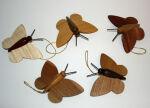 Schmetterlinge natur Baumbehang  Set mit 5 Stück