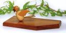 Tischkartenständer mit einem Vogel