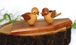 Tischkartenständer mit zwei Vögeln